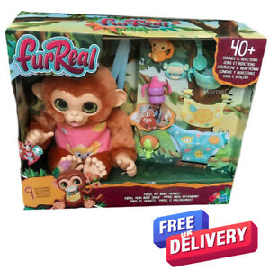 Child FurReal Piper My Baby Monkey Interactive Animatronic Plush Toy New