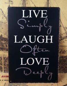 LIVE LAUGH LOVE Retro signs Home Pub Wall Decor Vintage Metal Tin Signs Bar