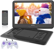 """WONNIE 17.5"""" pulgadas portátil reproductor de DVD con pantalla giratoria grande de 15.6 pulgadas 1366x768 HD,"""
