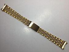 NEW 17MM GOLD PLATED SOLID JUBILEE BRACELET BAND STRAP FOR ROLEX TUDOR MIDSIZE
