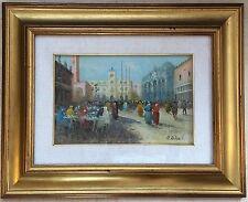 Venise Piazzetta Devant La piazza San Marco Aquarelle Signee A.Roberti Xxème