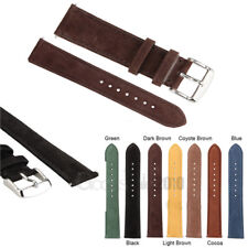 Mens Genuine Leather Wrist Watch Strap Band RM S.Steel Buckle and Spring Bars