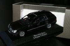 1:43 MERCEDES Benz E Klasse T Modell W 211 schwarz MINICHAMPS black class model