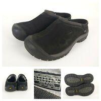 EUC Women's Keen Black KACI Hiking Casual Walking Suede Shoes Size 8.5 Slip On