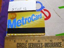 Train RR Ticket Stub pass MTA New York Metro Card Collectible 2009 expired