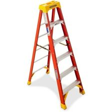 Werner 6 FT 6206 Fiberglass OE Step Ladder With 300 Lb. Load Capacity