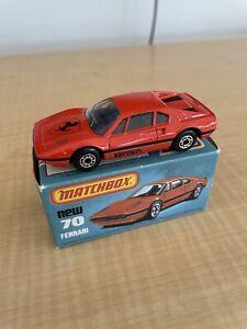 Matchbox Superfast 70 Ferrari 308 GTB With Box