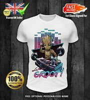 DJ Baby Groot Kids girls boys t shirt xmas christmas children