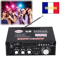 600W Amplificateur de Puissance Bluetooth Audio Hi-Fi Stéréo Radio FM Numérique