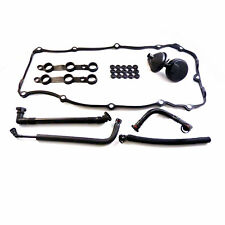 For BMW 525i 330i X3 Z4 Breather Hose Cover Gasket Crankcase Vent Valve set kit