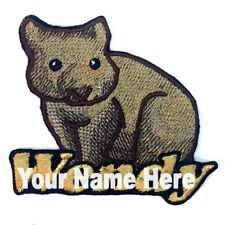 Wombat Custom Iron-on Patch With Name Personalized Free