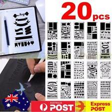 20x Bullet Journal Stencil Plastic Planner Stencils Notebook Diary Scrapbook DIY