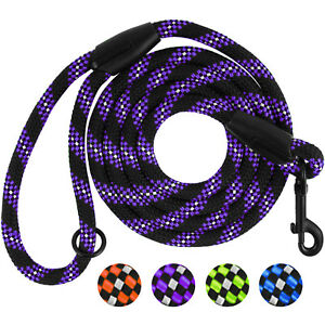 Rope Dog Leash 6 Ft Reflective Cord Pet Lead Nylon Traction Climbing Puppy S L