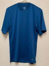 Patagonia Mens Performance Baselayer Capilene Short Sleeve Blue Shirt Sz S
