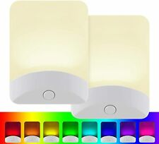 2 Pack GE Color Changing LED Night Light Plug Dusk Dawn Home, OPEN BOX