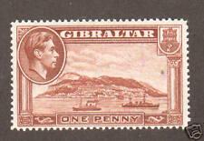 Gibraltar Sc 108a Mlh. 1938-49 1p chestnut, perf 14