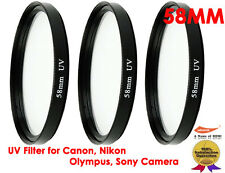 3x Premium 58mm UV Filter for Canon,Nikon,Sony,Olympus,Pentax,Panasonic Camera
