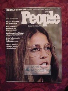 PEOPLE September 23 1974 GLORIA STEINEM Rodney Allen Rippy Mia Farrow +++
