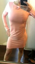 NWOT*Sexy Women's Long Sleeve Bandage Bodycon Dress*Size Small/Medium*Pink*