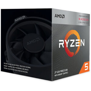 AMD Ryzen 5 3400G Unlocked Desktop Processor with Radeon RX Graphics - 4 Cores A