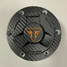 TRIUMPH Speed Triple RS Aspecto De Carbono Etiqueta Engomada de la almohadilla de Cubierta de Tapa de combustible