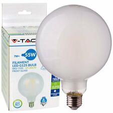 LAMPADINE LED VETRO FILAMENTO E27 7W GLOBO GRANDE LUCE CALDA  G125 DIMMERABILI