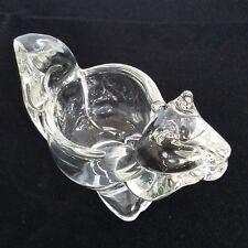 Vintage Avon Clear Glass Figurine Votive Holder, Squirrel, Perfect