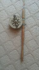 Vintage Pflueger Sal-Trout No. 1558 Silver Metal Fishing Reel & Rod Made in Usa