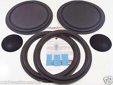 """ESS PS-12C Speaker Repair Refoam Kit 12"""" Passive Radiator & 12"""" Woofer w/ Caps!"""