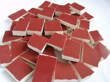 Broken China Mosaic Tiles -  RUST pottery mosaic tiles
