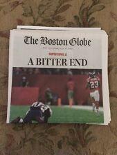 Feb.6th 2017 Boston Globe miss print of New England Patriots loss (A BITTER END)
