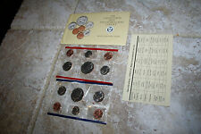 1990 US Coin Mint Set Flatpack 10 Coins 2 Kennedy Half Dollars Free Shipping 100