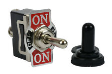 Temco 20a 125v On Off On Spdt 3 Terminal Toggle Switch With Waterproof Boot Cap