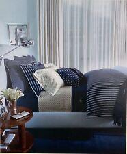 New Ralph Lauren Sheets And Pillowcases 450 Sateen Navy Cream Cal King 3 Piece