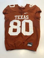 GAME WORN USED TEXAS LONGHORNS FOOTBALL JERSEY SIZE 40 #80