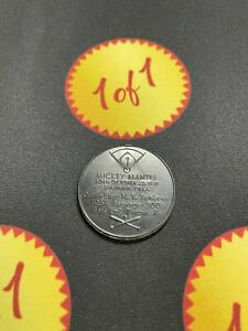 1960 Armour Hot Dog Coin Mickey Mantle Black New York Yankees GF20