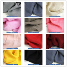 50x145cm Solid Color Fabric Cotton Linen Crepe Bamboo Fiber Craft DIY Scarf  B