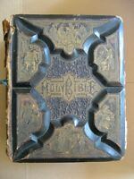 1881 Family Bible Large Leather parallel Authorized+Revised Versions+APOCRYPHA