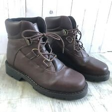 Sorel Sedona Women's Brown Leather Ankle Boots Hiking Work Winter Lace Up Size 8