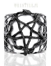 Restyle Snake Pentagram Serpent Gothic Witch Satanic Punk Bangle Cuff Bracelet