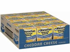 Maruchan Instant Lunch Cheddar Cheese  Flavor Ramen Noodle Soup 12 Pack Cups