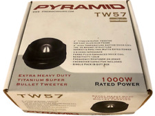 Brand New: Pyramid Tw 57 Extra Heavy Duty Titanium Super Bullet Tweeter
