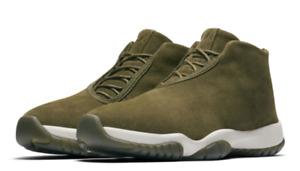 Air Jordan Future Olive Suede AR0726 300 Mid Top Shoes 8 Women's
