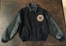 Vintage GUESS Georges Marciano Wool Blend Leather Varsity Letterman Jacket L Men