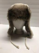 Woolrich Faux Fur Ecru Wool Aviator Trapper Women's Hat