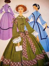 👗 Vtg 1950s McCalls 2176 Victorian Civil War Ball Gown Dress Sewing Pattern 14