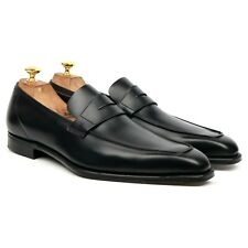 George Cleverley 'George' Black Leather Loafers UK 12 E