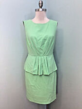 Catherine Malandrino Green Peplum Sheath Dress EUC M 8 Career Cocktail