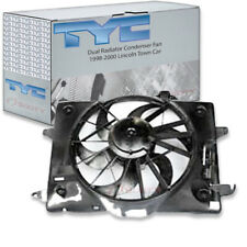 TYC Dual Radiator and Condenser Fan Assembly for 1998-2000 Lincoln Town Car  ns