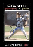 Custom made Topps 1971 San Francisco Giants Gaylord Perry Baseball card 2
